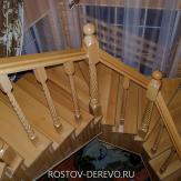 Лестница из бука на металлическом каркассе