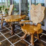 Стол и стулья из корня дерева