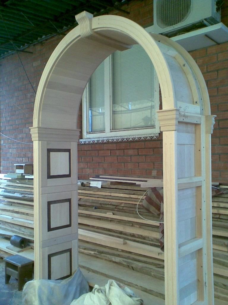 изготовление деревянных арки