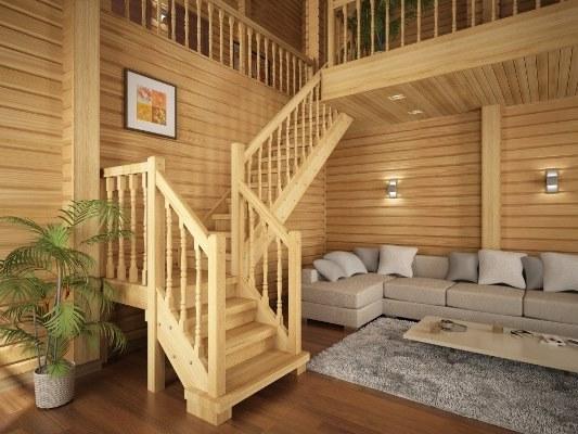 лестницы в деревянном доме фото